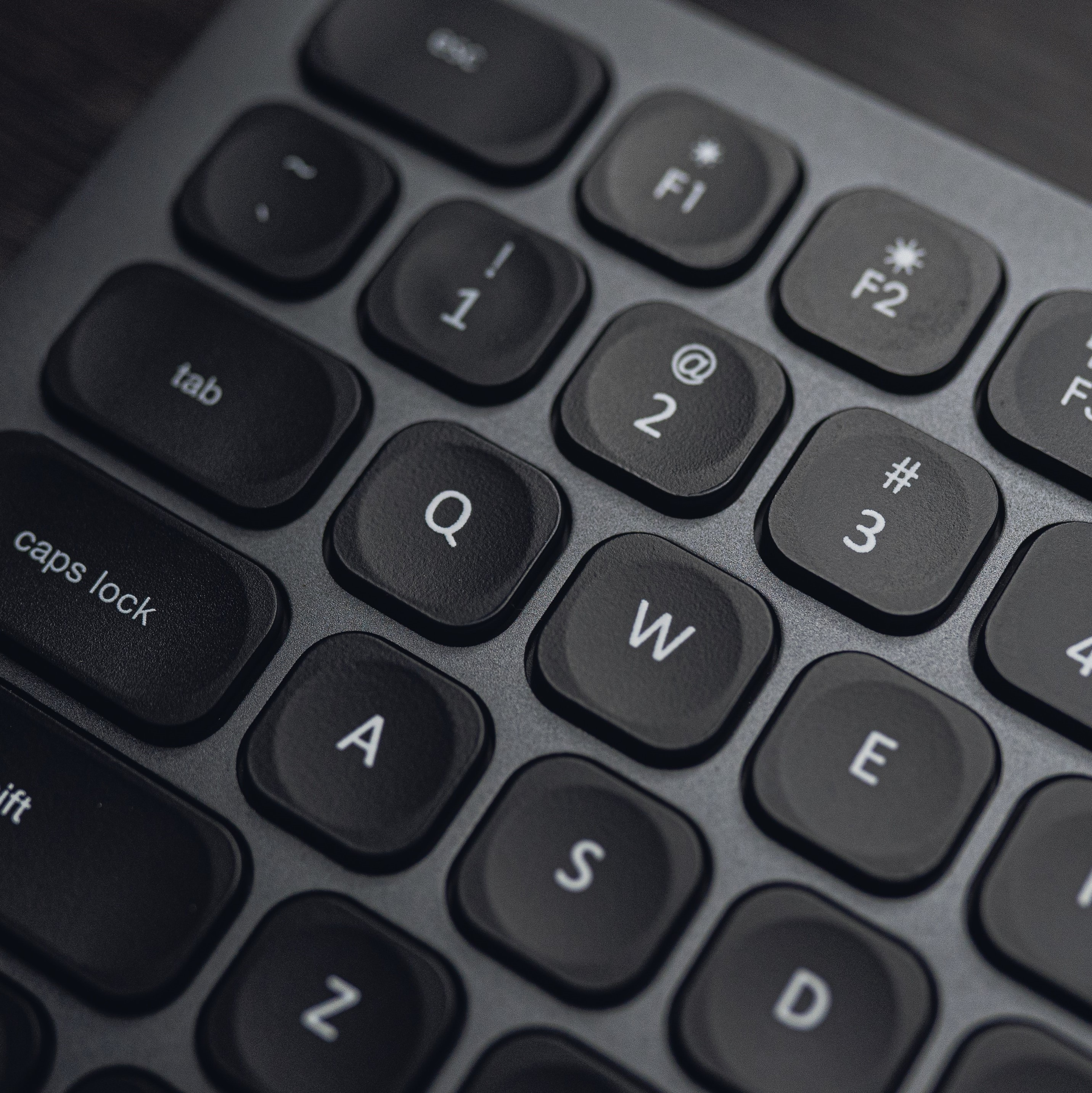 close up picture of computer keyboard