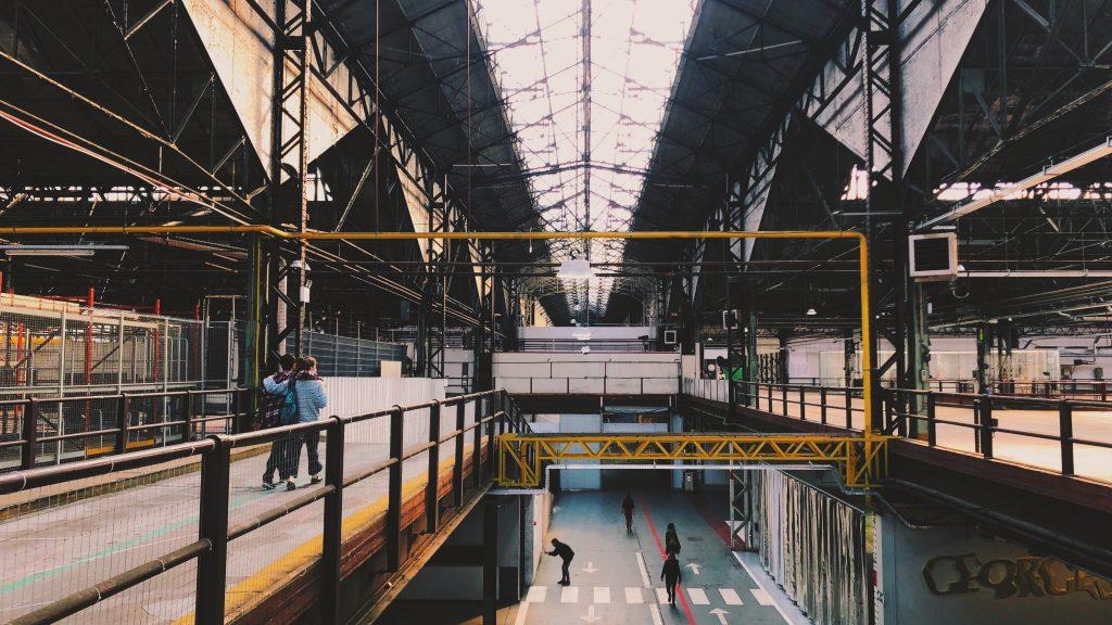 interior of industrial building balcony